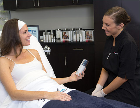 Hydrafacial Therapist Treating A Patient